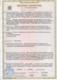 """Сертификат соответствия   Сертификат удостоверяет, что аппаратура вибрационного контроля ЦВА соответствует требованиям технического регламента Таможенного союза """"О безопасности оборудования для работы во взрывоопасных средах"""""""